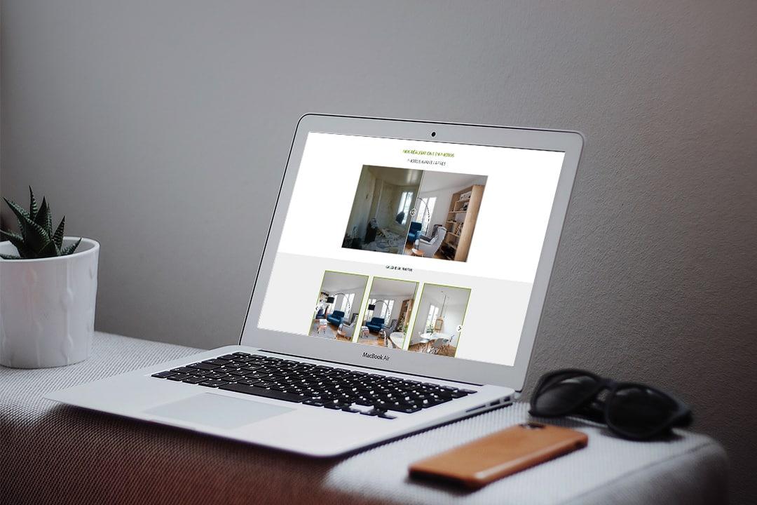 Site Internet AZApp sur ordinateur